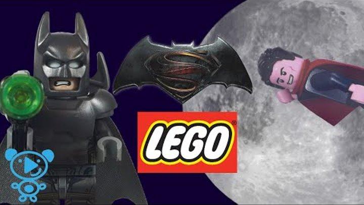 Batman vs Superman Lego 76044 DC Comics Stop Motion Toys Review Video for Kids