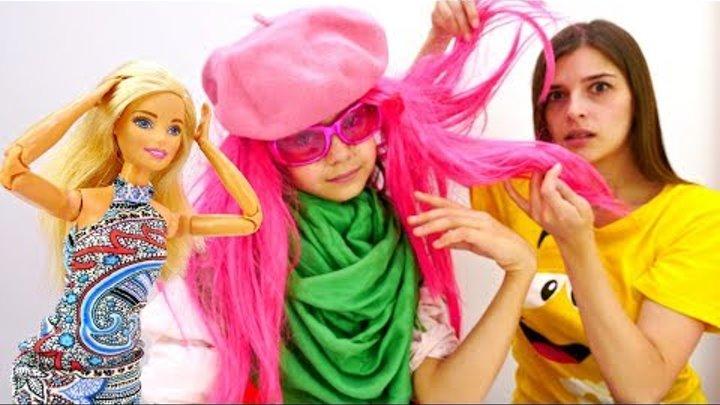 Салон Красоты для девочек - Розовые волосы - Игры с Барби.
