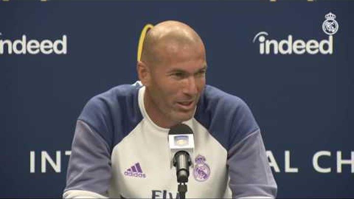 """Zidane: """"La gente que venga al estadio querrá ver un buen Real Madrid y vamos a intentarlo"""""""