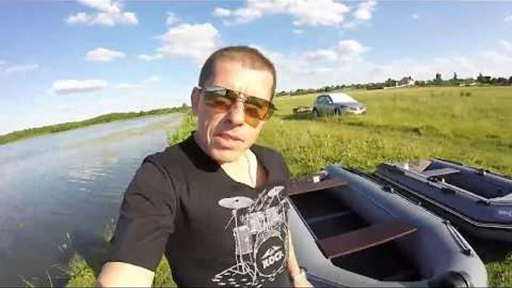 Лодка Shark boat и мотор Parsun 3,6. Покатушки с замером скорости.