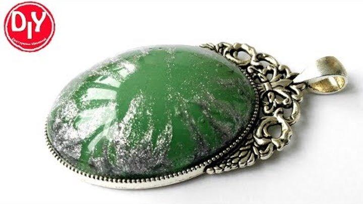 Кулон из эпоксидной смолы с люминоформ/jewelry made of epoxy resin