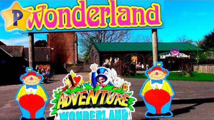 Парк аттракционов катаемся на каруселях на пони стреляем из пушек Adventure Wonderland England