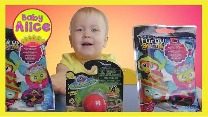 Распаковка игрушек ФЕРБИ БУМ пакетики с сюрпризами и КРЭШЛИНГЗ Unpacking Furby Boom