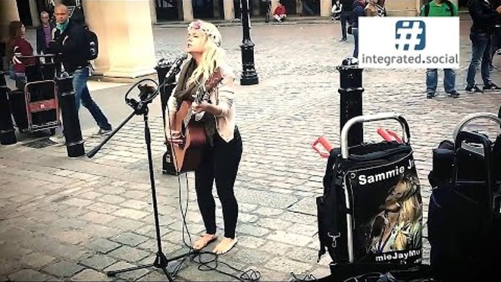 Jolene Song Cover Song by Street Performer Sammie Jay