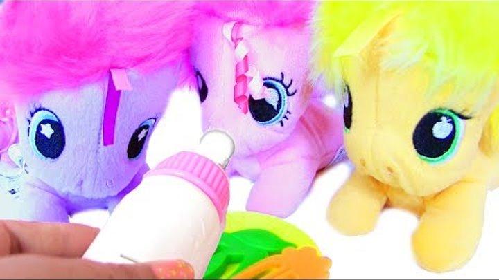 My Little Pony Baby Ponies Пони Мультик Baby Pony Пластилин для Детей MLP Игры для Девочек