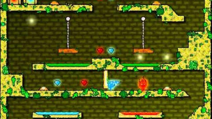 прохождения огонь и вода часть 1 детские игры