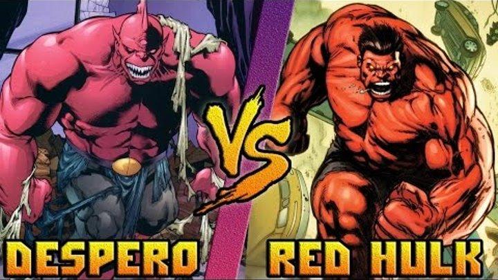 Красный Халк (Marvel) vs Десперо (DC) / Red Hulk vs Despero - Кто Кого? [bezdarno]