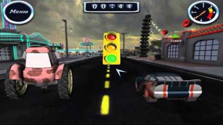 Тачки новые серии: Маквин участвует в гонке... с Трактором:)