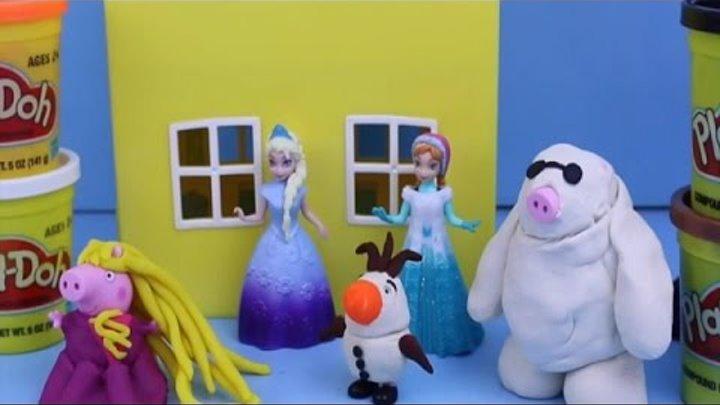 Peppa Pig ❤ Play Doh Videos Halloween Costume Big Hero 6 DisneyCarToys Disney Rapunzel Playdough