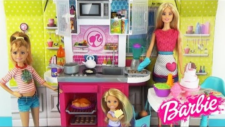 Кухня и кукла Барби Наборы одежды Игровой набор для девочек Мультик ♥ Dream Kitchen with Barbie Doll
