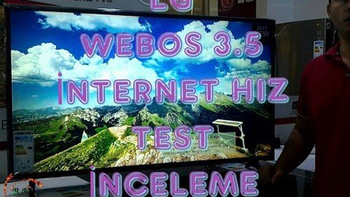 LG 43UJ630V 4K UHD SMART TV WEBOS 3.5 İNTERNET HIZ TEST İNCELEME