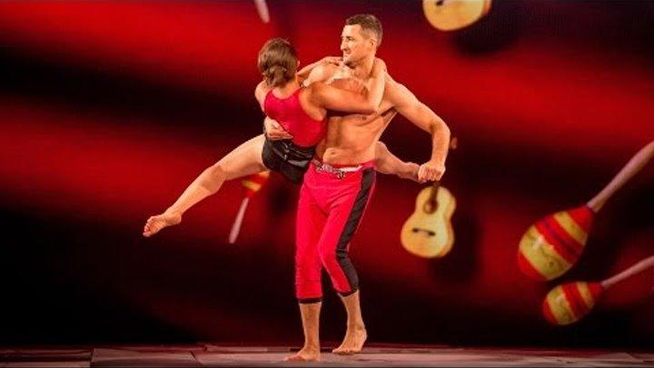 Carl Froch & Sita Bhuller's Trampoline Performance to 'Bamboleo' - Tumble: Series 1 Episode 3