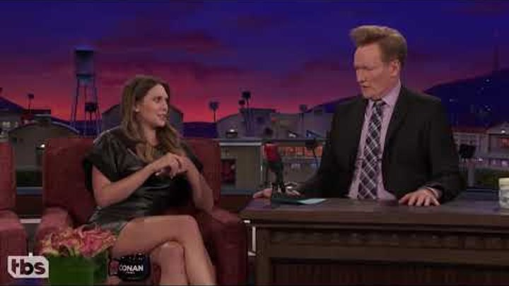 elizabeth olsen teaches conan russian curse words
