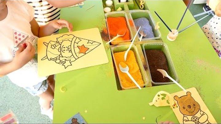Рисуем песком фею. Раскраска фея. Песочная разукрашка.Картина из песка.Видео для детей.Детское видео