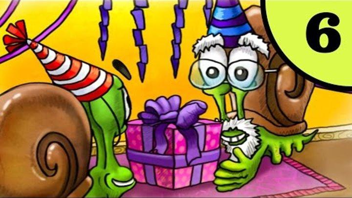 Несносный УЛИТКА БОБ. День рождения дедушки. Часть 3. ИГРА мультфильм для детей на Игрули TV