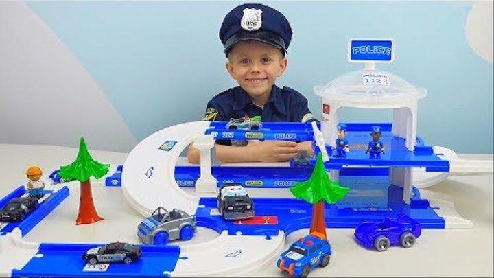 Полицейский Даник и тренировочная база полиции ПОЛИЦЕЙСКИЕ МАШИНКИ ДЛЯ ДЕТЕЙ