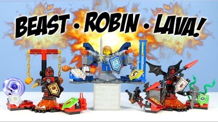 LEGO Nexo Knights ULTIMATE Beast Master Robin & Lavaria Minifigure Sets