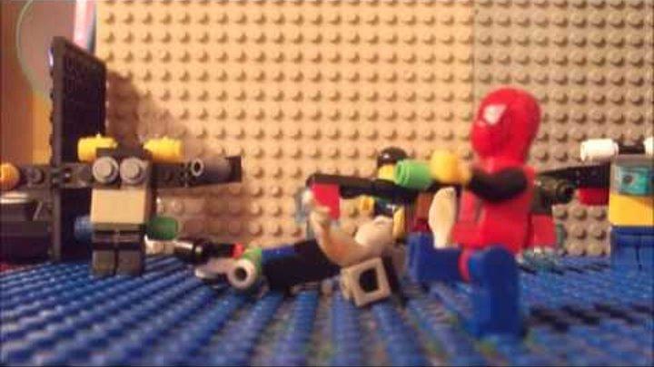 Лего человек паук 3 враг в отражении