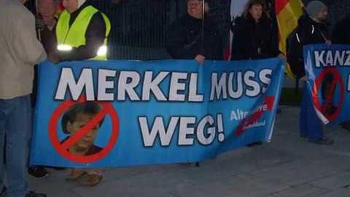 VOR ORT AKTUELL - MERKEL MUSS WEG MITTWOCH VOM 22.MÄRZ IN BERLIN - MITTE.