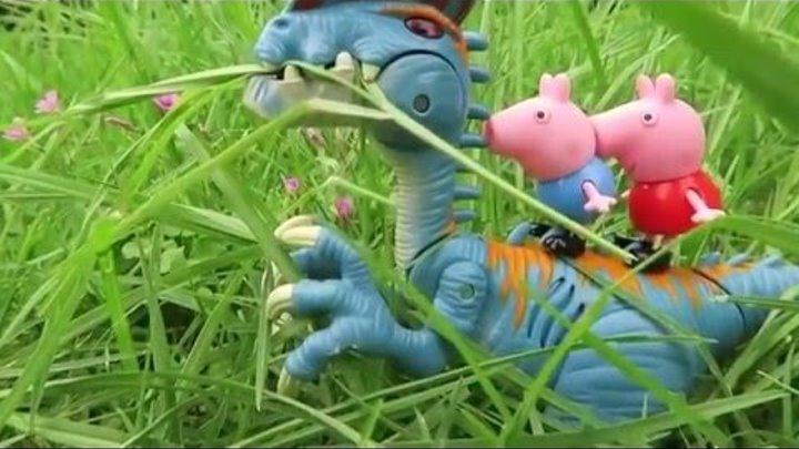 Развивающий мультик Динозавр Джорджа и свинка Пеппи