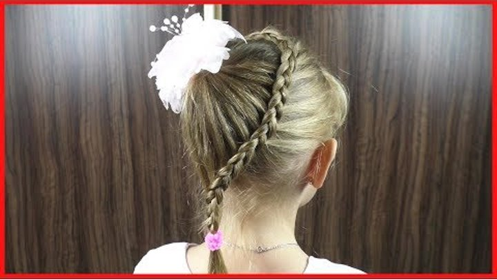Причёска на 1 сентября, в школу или садик.Детские прически