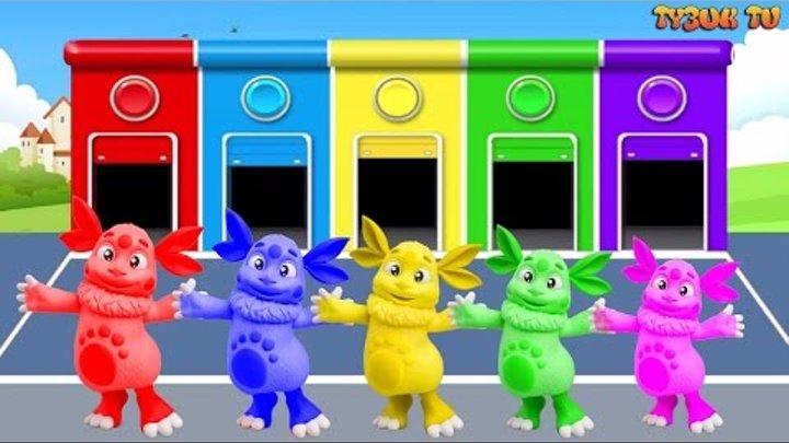 Лунтик - новые серии - мультик для детей - учим цвета - цвета для детей