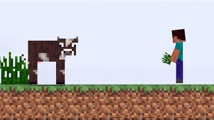 Майнкрафт - Minecraft обзор игры для детей | Мультик ИГРА для детей про Бумажный Майнкрафт