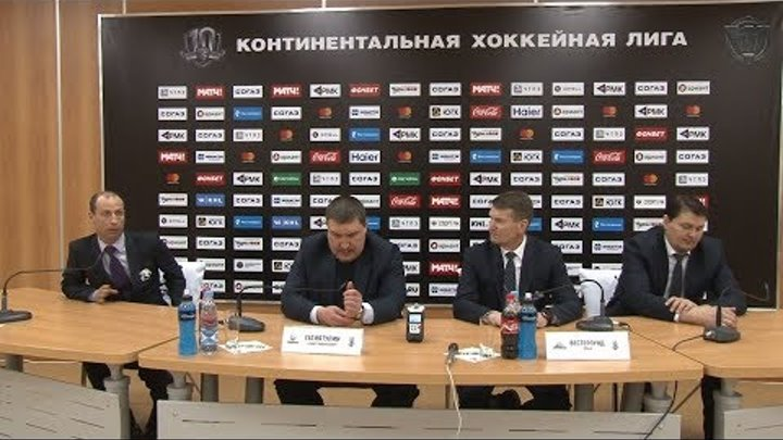 Пресс-конференция после четвертого матча серии «Салават Юлаев» vs «Трактор»