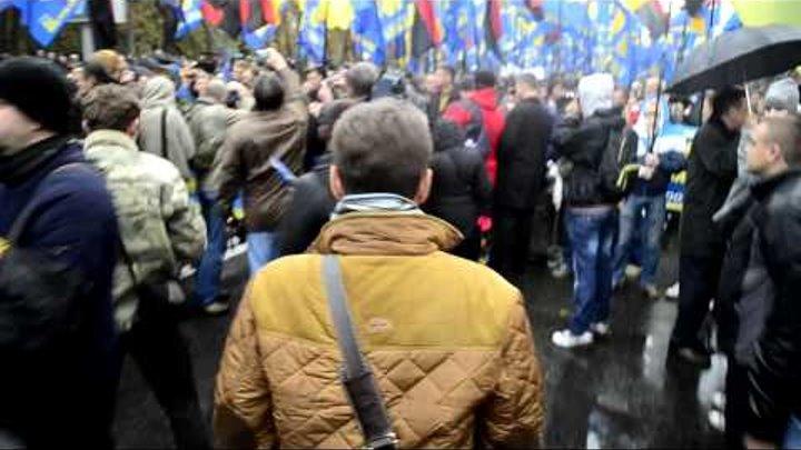 Марш УПА Киев 14.10.2012 ВО Свобода. Олег Тягнибок - 2