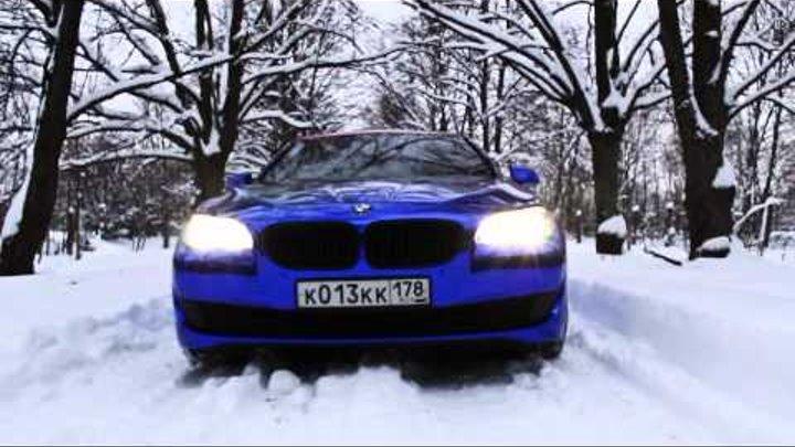 BMW F10 5-Series blue chrome by Vinyl Dept