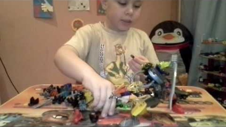 Собираем нового персонажа Лего Бионикл