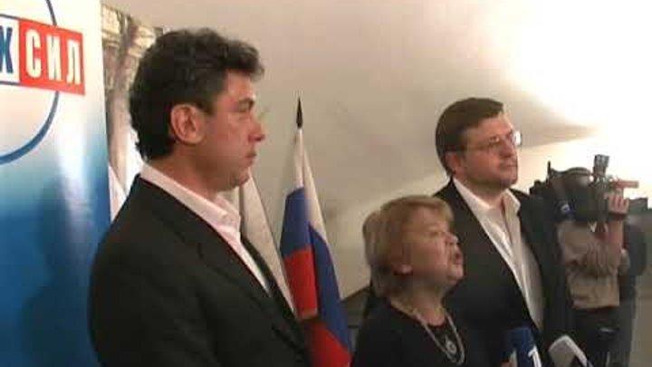 Немцов Белых Чудакова. 2007 год, после выборов СПС