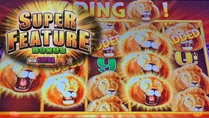 SUPER FEATURE BONUS: Sunset King Slot Machine BONUS BIG WIN by Aristocrat