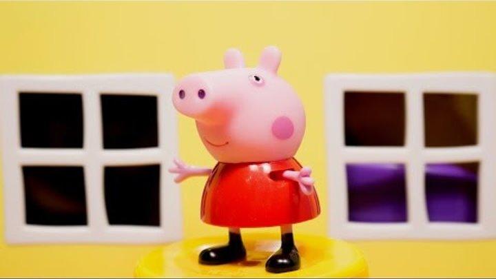 Свинка Пеппа домик. Игрушка. Свинка Пеппа на русском