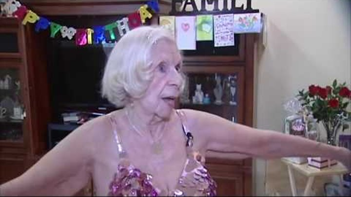100-year-old belly dancer shakes it like Beyoncé