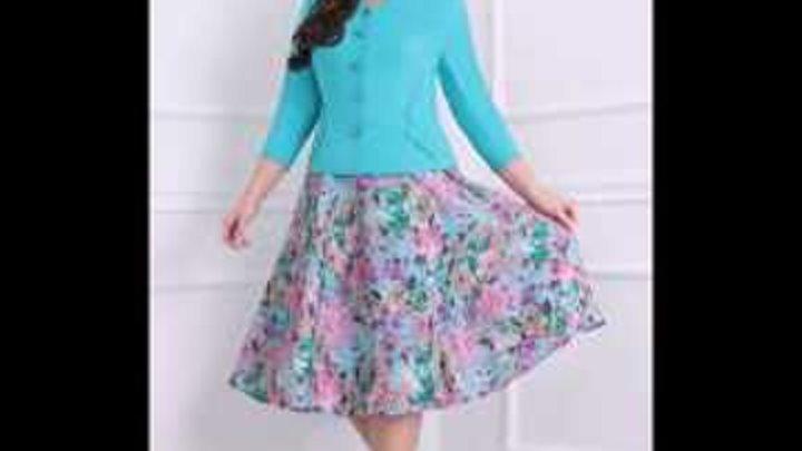 Большие размеры - красивые платья из белорусского трикотажа