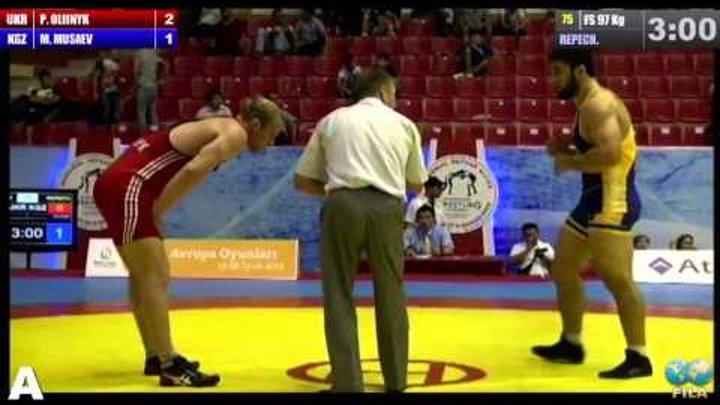 Golden Grand Prix-2014: За бронзу. М.Мусаев (KGZ) — П.Олийник (UKR)