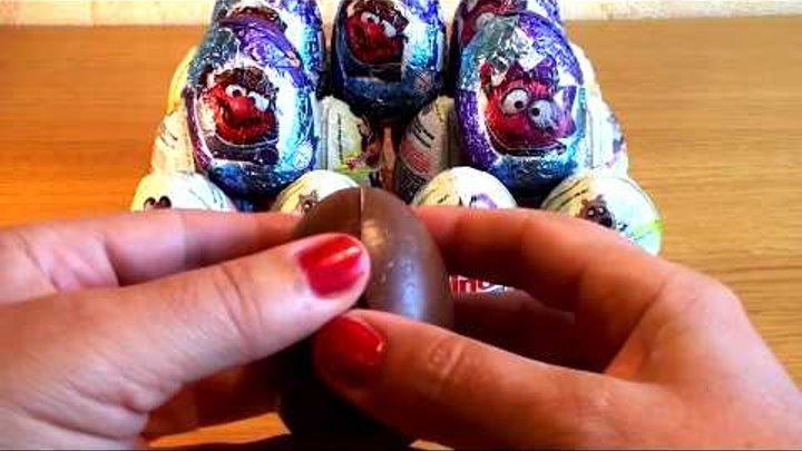 Открываем шоколадные яйца киндер сюрпризы из серии Маша и медведь Видео для детей
