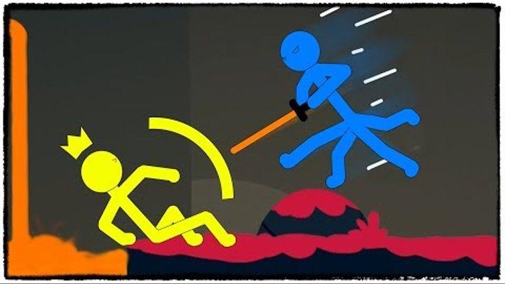 ЛАЗЕРНЫЙ МЕЧ VS ЛАКЕР В STICK FIGHT THE GAME! ИЛИ КАК Я СОДЕ ДАЛ ТРЫНДЫ :D