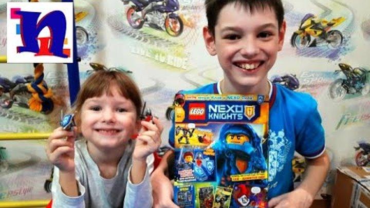 LEGO Nexo Knights. Журнал лего нексо найтс с героем Клеем и боевым маникеном