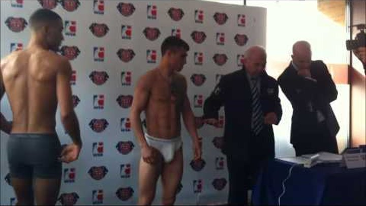 VASYL LOMACHENKO & SAM MAXWELL weigh in for World Series of Boxing