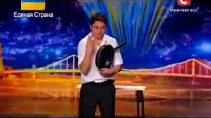 Украина имеет талант 6. Железный человек Азамат Бараков часть 1