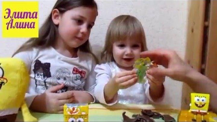 Шоколадные яйца с сюрпризом видео. Открываем шоколадных жучков с сюрпризами и жевачки Спанч Боб.