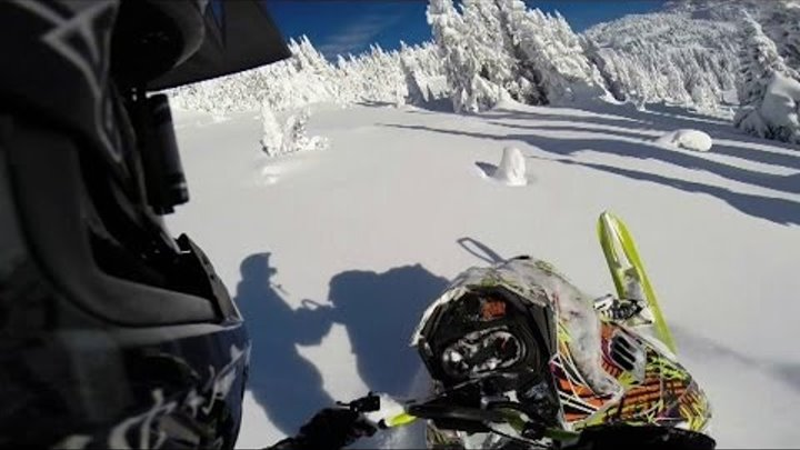 2014 Ski-Doo Freeride ripping it up at Grizzly lodge, BC