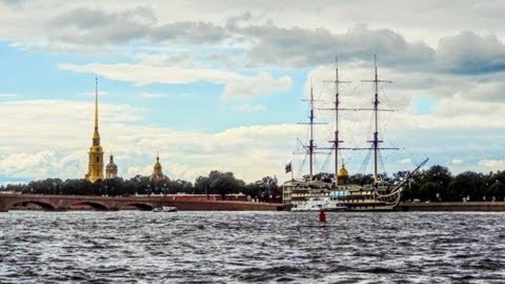 Санкт - Петербург, Речная Прогулка. Самостоятельное Путешествие,Ч.2