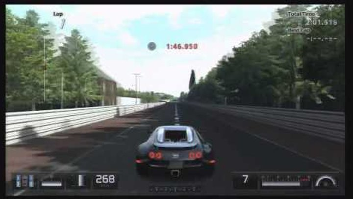 Gran Turismo 5 | Bugatti Veyron 16.4 Top Speed | 111 meters per second Trophy