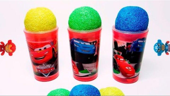 COLOR Ice Cream x3 Iron Man Captain America McQueen Paw Patrol and Minions in Surprise Eggs