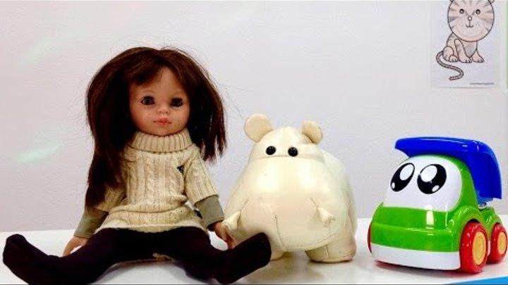 Английский для детей с Мэри! Животные на английском - бегемот! Учим английский: животные, цвета.