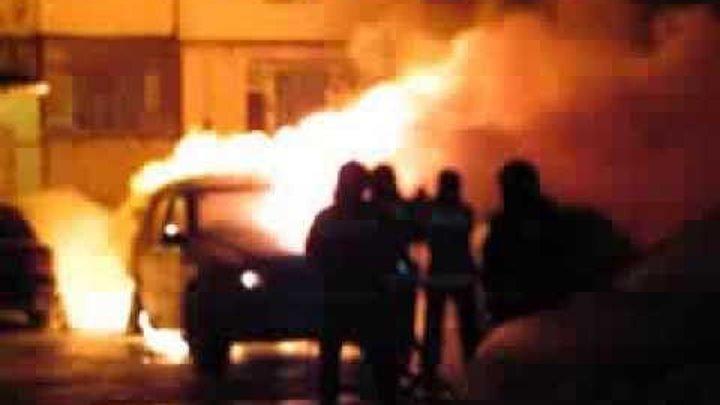 Пожар автомобилей. Одесса , посёлок Котовского
