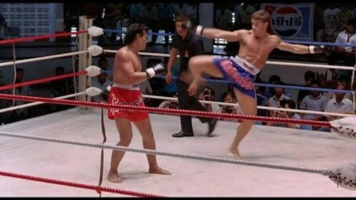 Кикбоксер. Kickboxer. Жан-Клод Ван Дамм показательный бой